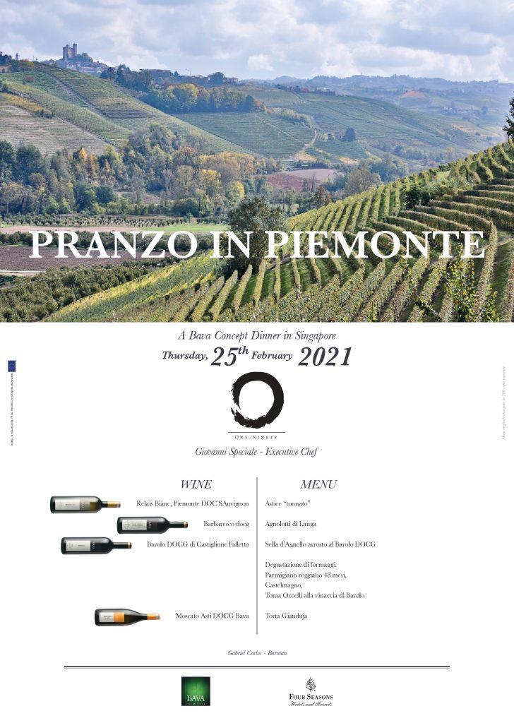 Pranzo in Piemonte Four Seasons Hotel - Singapore 25/02/2021