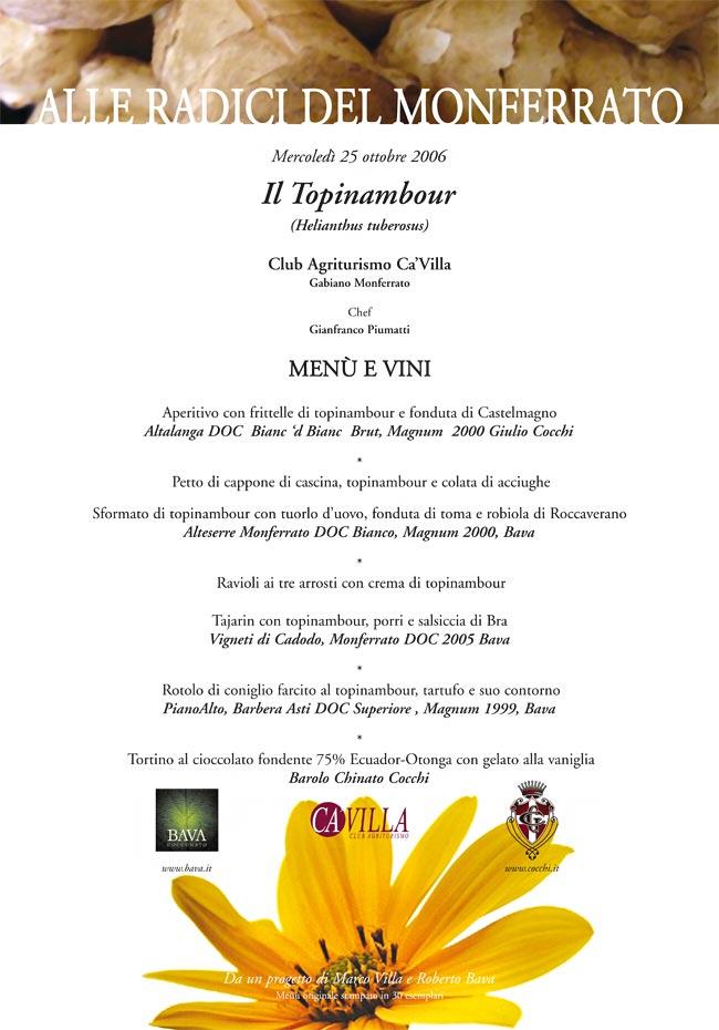 Il topinambour  25/10/2006