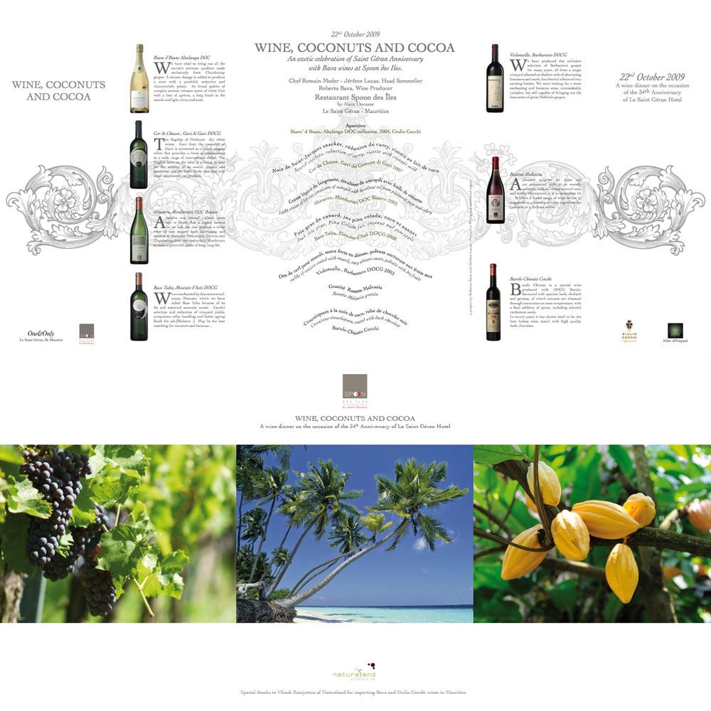 Wine, coconuts and cocoa  22/10/2009