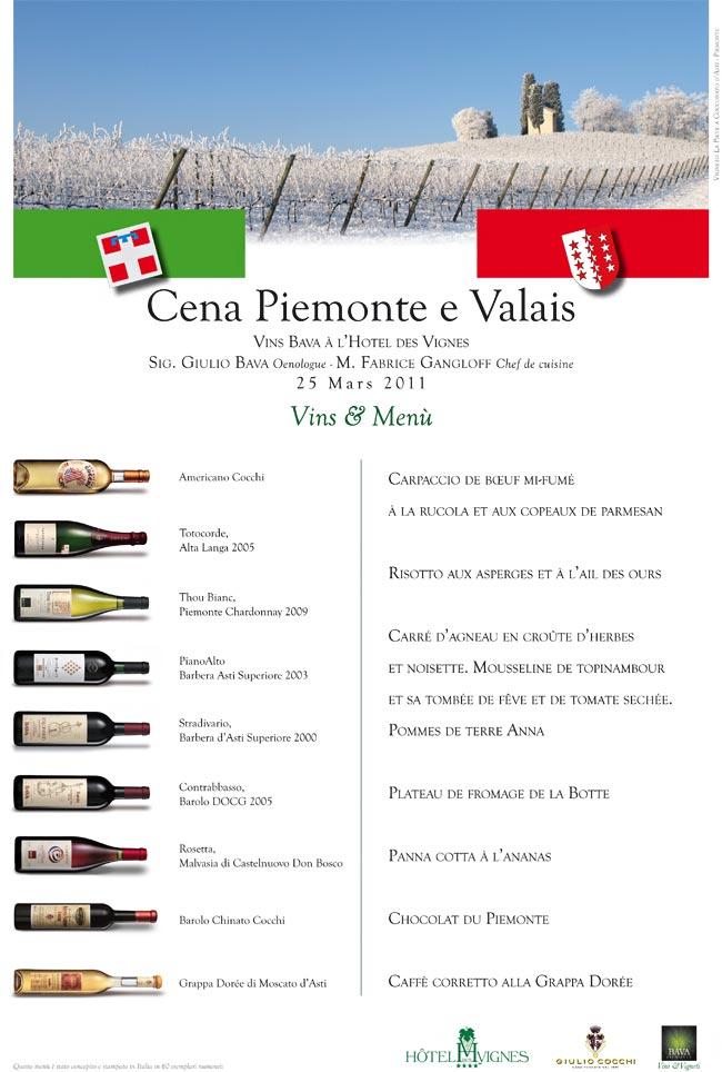 Cena Piemonte e Valais  25/03/2011