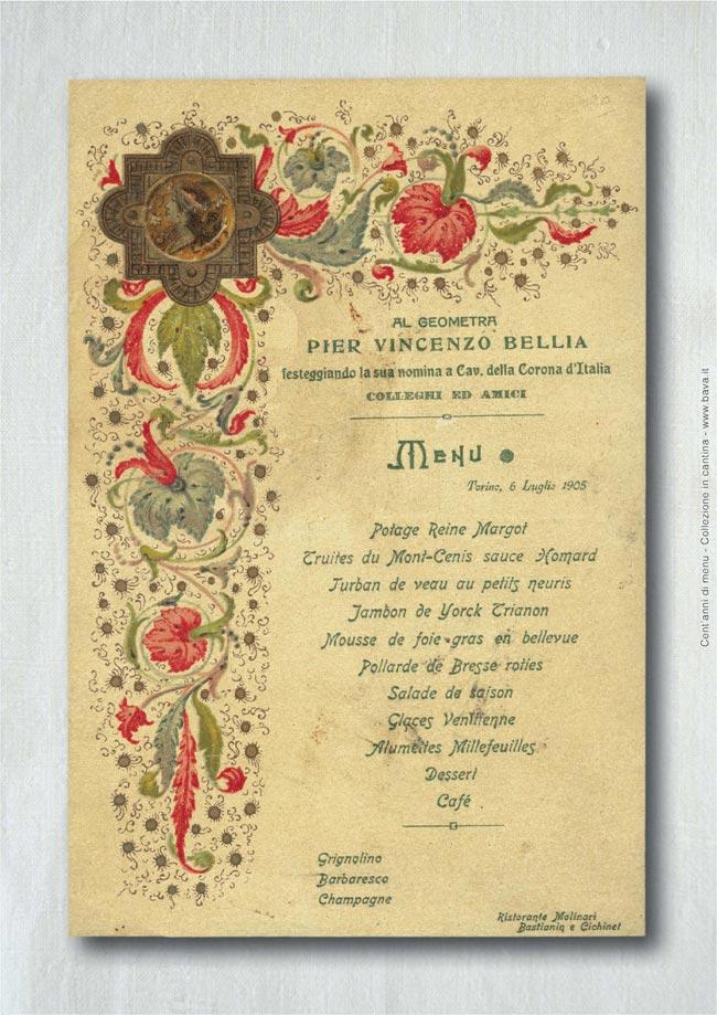 Festeggiamento Vincenzo Bellia Torino 06/07/1905