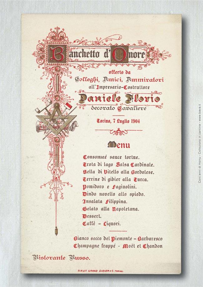 Banchetto d'onore Torino 7/07/1904