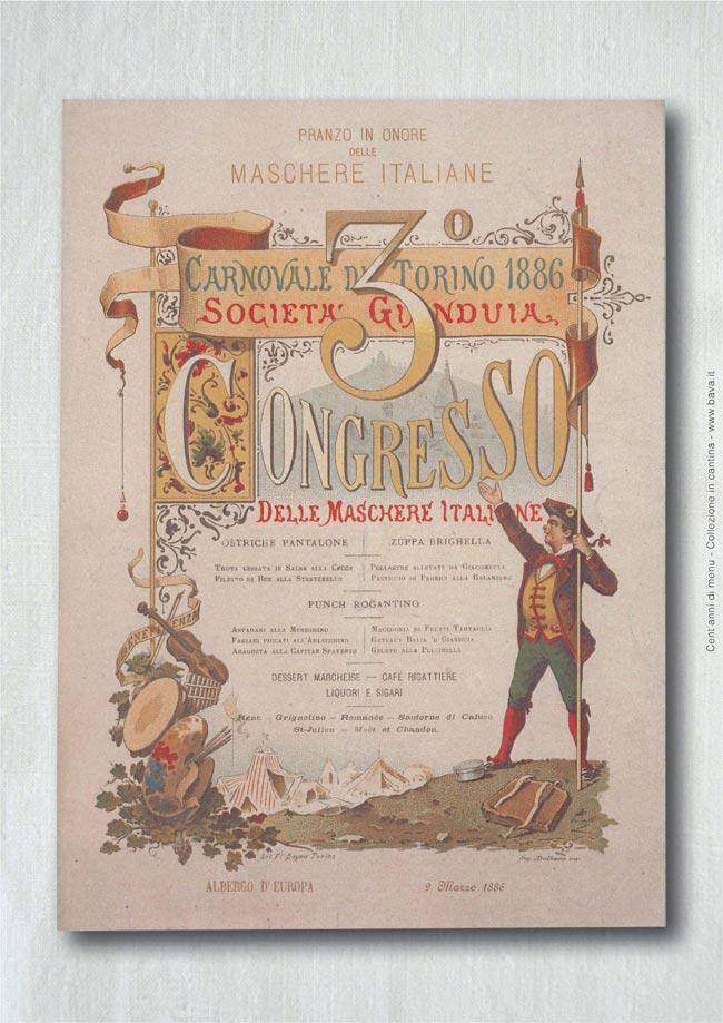 Pranzo maschere Torino 09/03/1886