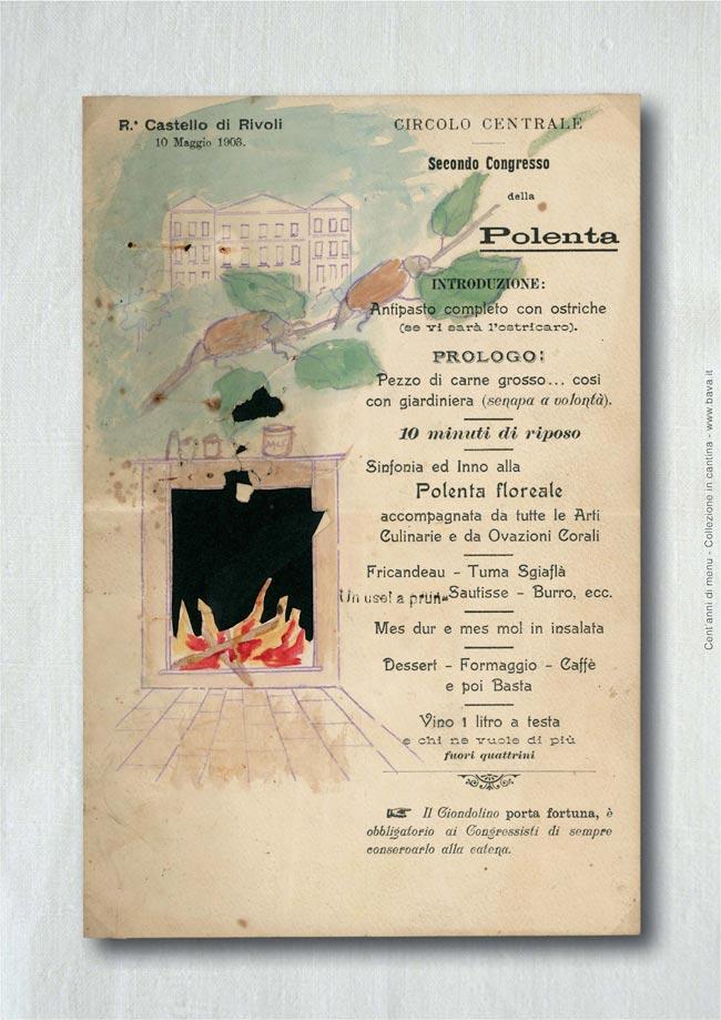 Congresso della polenta Castello di Rivoli 10/05/1906