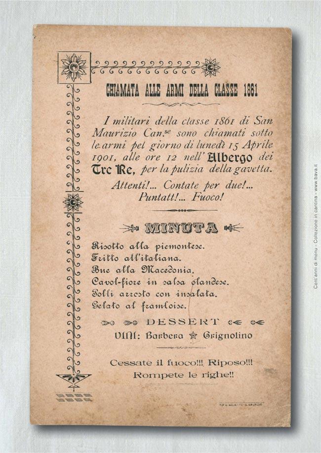 Chiamata alle armi della classe 1861 1861