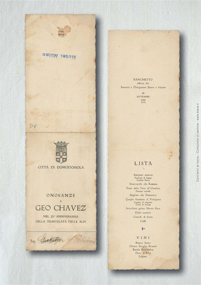 Onoranze a Geo Chavez Domodossola 29/09/1935