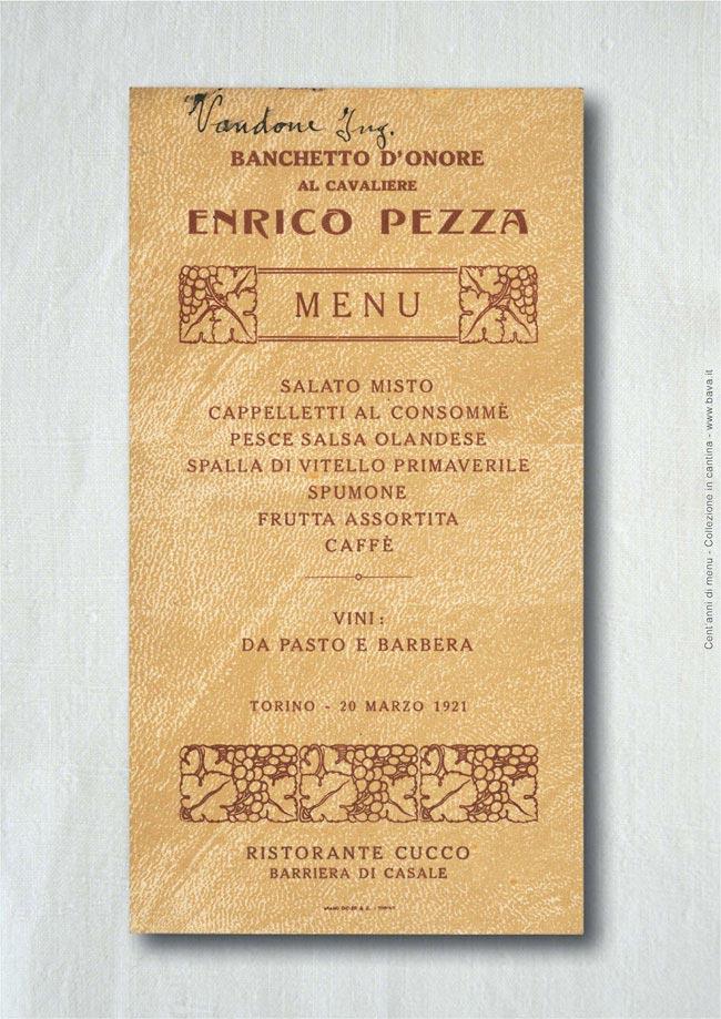 Banchetto d'onore Torino 20/03/1921