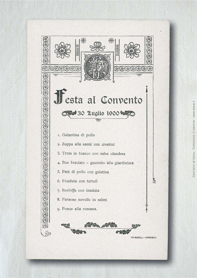 Festa al convento Cherasco 30/07/1900