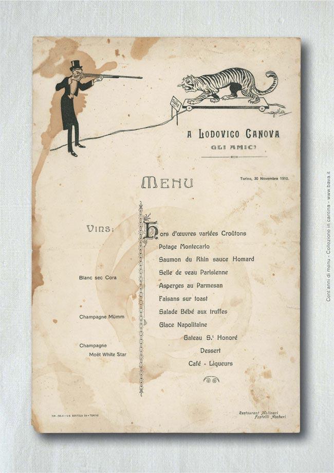 Menu Torino 30/11/1910