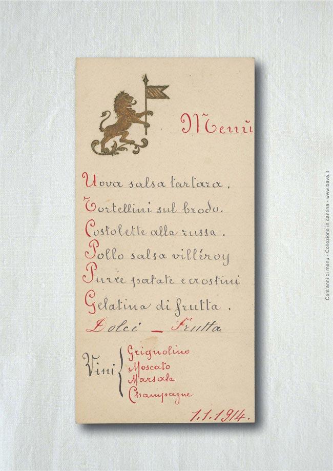 Menu  01/01/1914