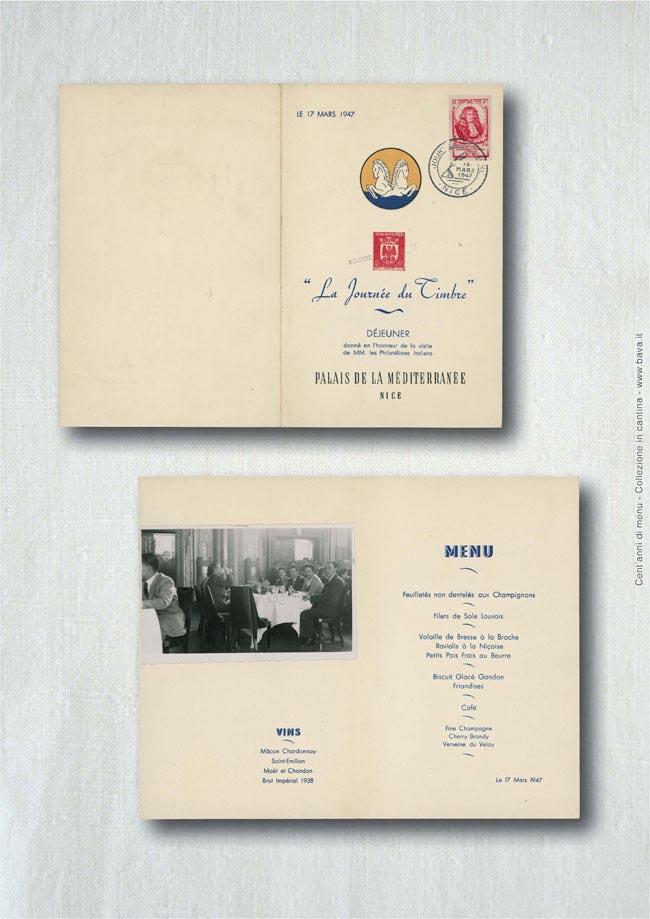 La journée du timbre Nice 14/03/1947