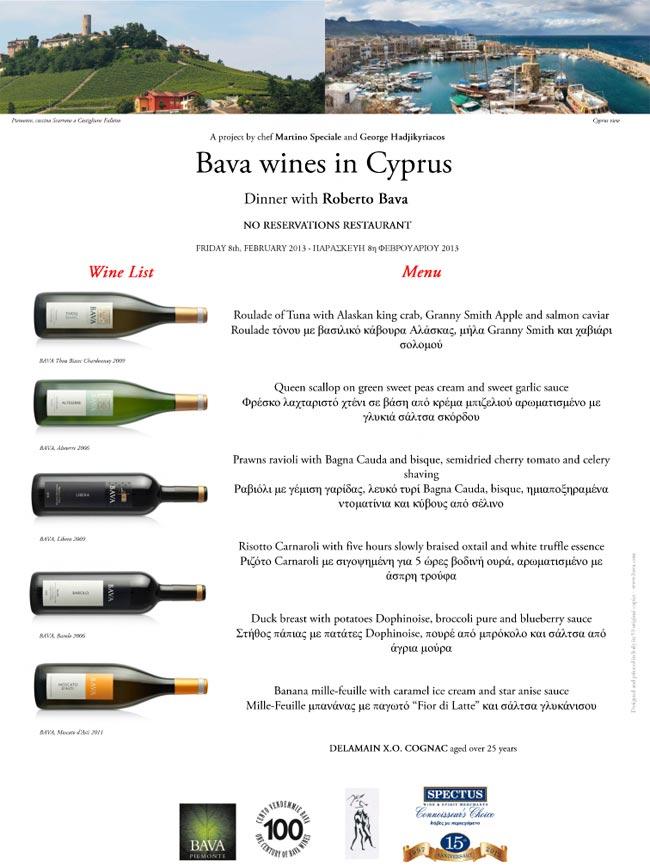Bava wines  8/02/2013